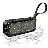Wireless Bluetooth Speaker,Outdoor Portable Speaker with Stereo HD Audio and Enhanced Bass,Dual Driver Speaker,Handsfree Calling,FM Radio,Beach Radio and waterproof bluetooth speaker(Black)