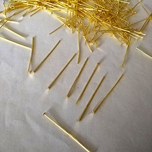 ZP01 Chandelier Connectors Clips Pins For Fastening Crystals Parts, Prism Pins ,Chandelier Replacements 300pcs (Gold)