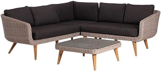 OUTLIV. Muebles de salón Mira para Exterior, 3 Piezas, de Acacia/Trenzado, para Exterior, jardín, terraza, balcón: Amazon.es: Jardín