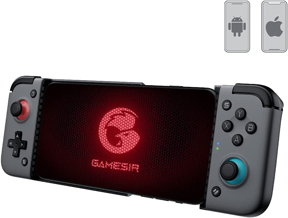 GameSir X2 Bluetooth Wireless Mobile Game Controller, Type-C Charge Port, Custom Turbo Key, Bluetooth 5.0 Supports Android iOS Phones Xbox Cloud Gaming Google Stadia GeForce Now MFi Apple Arcade Games