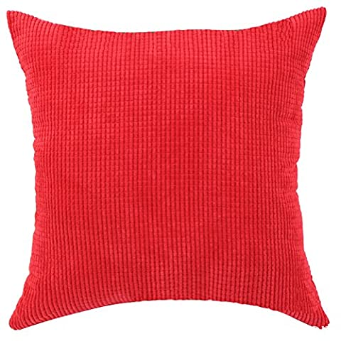 Square/Rectangle Solid Pinkycolor Printed Cushion Cover ChezMax Corduroy Plaid Throw Pillow Case Sham Slipover Pillowslip Pillowcase For Family Room Sofa Couch Chair Back Seat