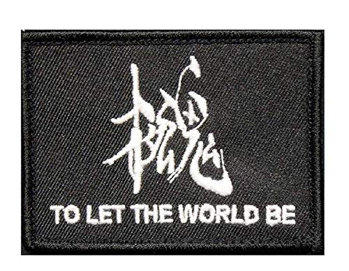 Metal Gear Solid Snake Glow in The Dark to LET The World BE Military Patch Fabric Embroidered Badges Patch Tactical Stickers for Clothes with Hook & Loop -
