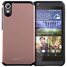 HTC Desire 626, HTC Desire 626s Case - Slim Hybrid Armor Defender Case Protective Phone Cover for HTC Desire 626 - Rose Gold