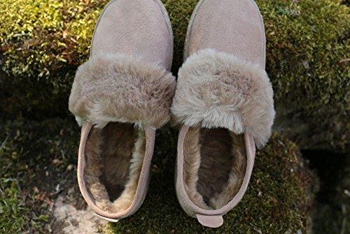 Mouton de Peau sur Chaussons Peau Mouton Premium avec de Femmes Leather Mathilde 100 Chaussures Hollert Laine Merino qtTfP