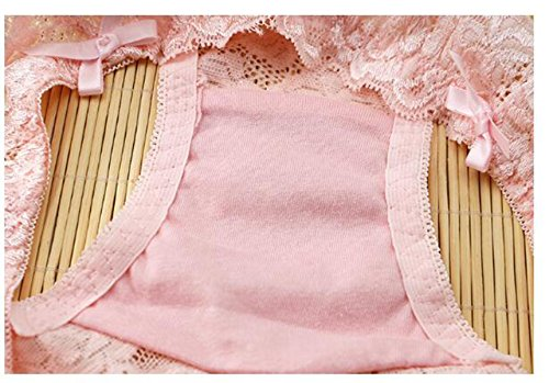POKWAI Ropa Interior Bajo Atractivo De La Cintura Del Cordón De Las Mujeres Transparentes No Trace Mencionar Cadera Pantalones Sección Delgada De Entrepierna De Algodón Calzoncillos (3 Paquetes) A8