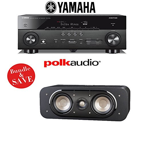 Yamaha AVENTAGE RX-A760BL 7.2-Channel Network A/V Receiver + (1) Polk Audio Signature S30 Center Channel Speaker - Bundle