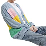 AgrinTol_Women's Sweaters Women's Multicolor Striple Sweater,Clearance!AgrinTol Casual Knitted Loose Long Sleeve Pullover