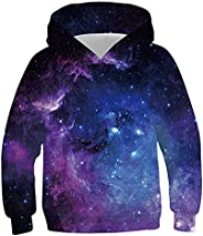 Kinberr Boys Girls 3D Cool Pullover Hoodies Casual Hooded Sweatshirt with Pockets 6-16 Years