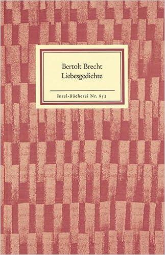 Liebesgedichte Bertolt Brecht Elisabeth Hauptmann