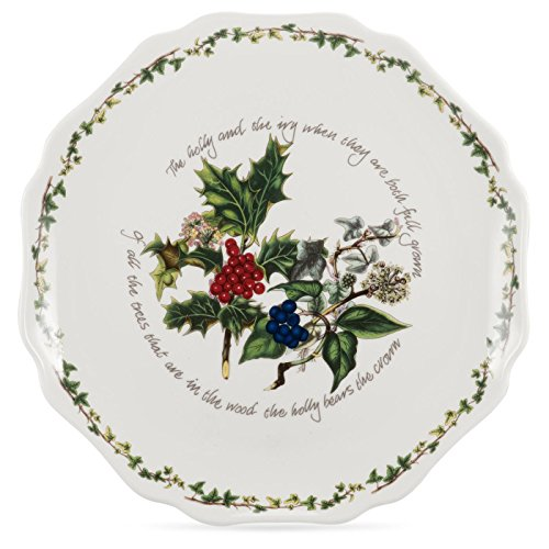 (Portmeirion Holly And Ivy Scalloped Platter 28cm)
