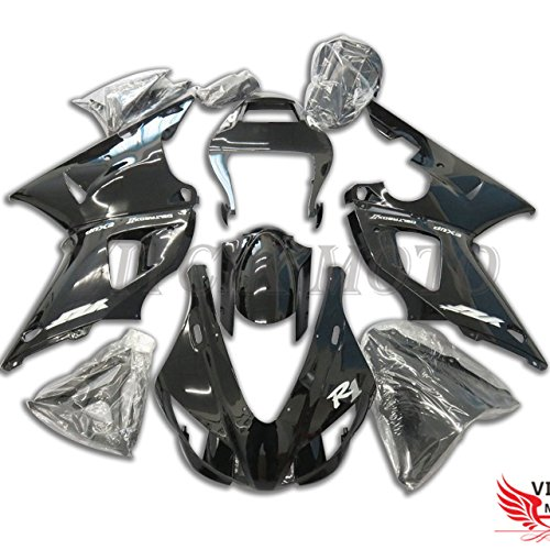 (VITCIK (Fairing Kits Fit for Yamaha YZF-1000 R1 1998 1999 YZF 1000 R1 98 99 Plastic ABS Injection Mold Complete Motorcycle Body Aftermarket Bodywork Frame (Black))