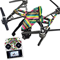MightySkins Protective Vinyl Skin Decal for Yuneec Q500 & Q500+ Quadcopter Drone wrap cover sticker skins Split Color