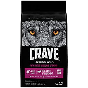 Crave Grain Free Adult Dry Dog Food With Protein From Lamb and Venison, 4 lb
