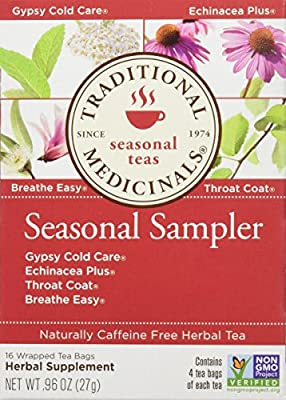 Traditional Medicinals Seasonal Herb Tea Sampler, 16 Count (Pack f 6)