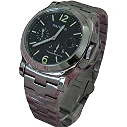 Whatswatch 44mm Parnis Power Reserve Indicator Automatic Sea-Gull 2530 Men's Watch PA-01194