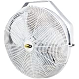 J and D POW18 18 In. White Indoor & Outdoor Wall44; Ceiling Or Pole Mount Fan