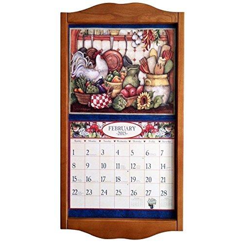 Lang Vertical Soldid Oak Classic Vertical Calendar Frame, 14.3 x 27.5 Inches ()