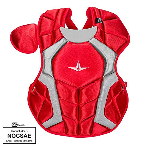 All-Star CPCC1216PS Red 15.5 in 12-16 Player Series Chest Protector SEI/NOCSAE