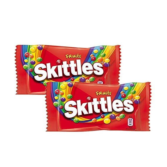 Skittles Fruit Sweets Bag, 2 Pack, 2 x 45 g