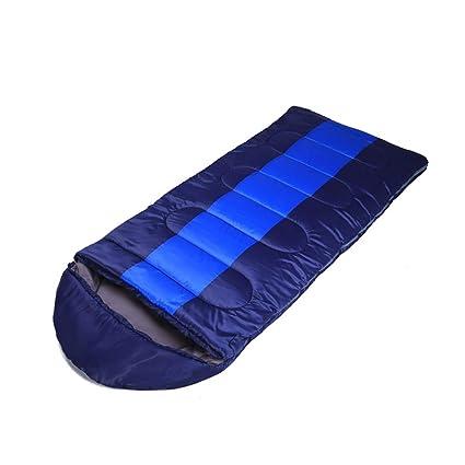 Saco de dormir LCSHAN Poliéster Algodón Grueso Acampar cálido Adulto Abajo Viajar Humedad (Color :
