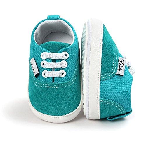 BOBORA Bebe Ninos Ninas Primera Zapatos Color Solido Antideslizantes Zapatos Para Caminar verde