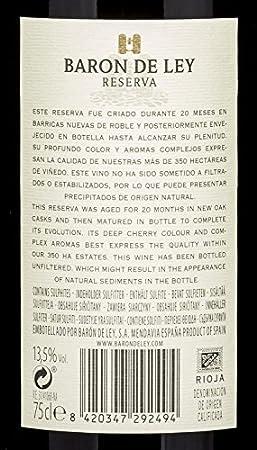 BARON DE LEY vino tinto do rioja botella 75 cl