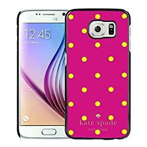 High Quality S6 Case,Kate Spade 37 Black Samsung Galaxy S6 Screen Phone Case Luxury and Genuine Design