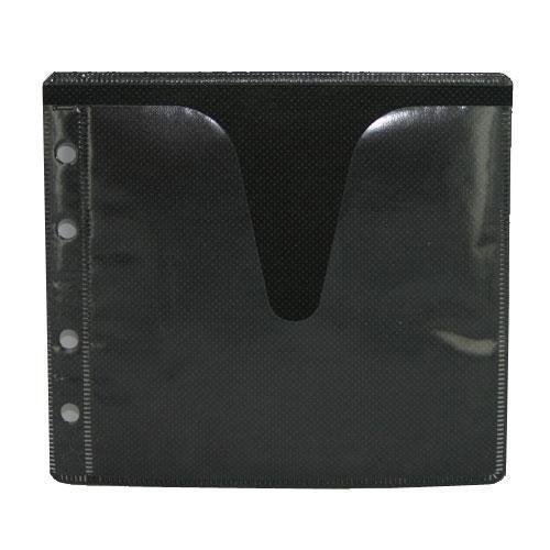 100 CD DVD Double-sided Refill Plastic Sleeve Black