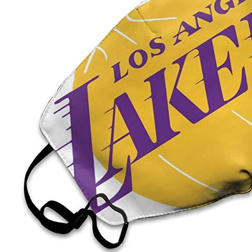 GLleaf Los Angeles Men's Soft Lakers Face Masks, Medical Masks,Breathable Dust Filter Masks Mask Mouth Cover Masks with Elastic Ear Loop White