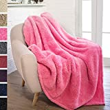 PAVILIA Plush Sherpa Throw Blanket For Couch Sofa | Fluffy Microfiber  Fleece Throw | Soft,
