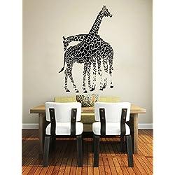 Wall Decals Giraffe Animals Jungle Safari African Childrens Decor Kids Vinyl Sticker Wall Decal Nursery Bedroom Murals Playroom Art (6054)