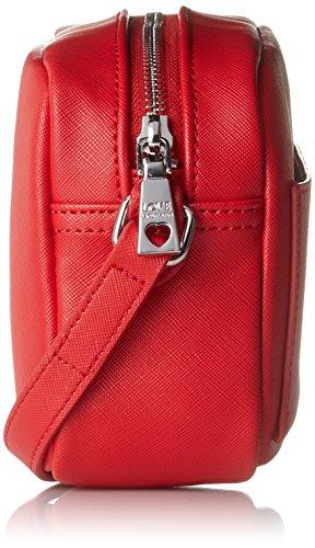 b Rosso Baguette Borsa Love X H 8x14x21 Donna Moschino red Pu T Borse Cm wvHXxgt