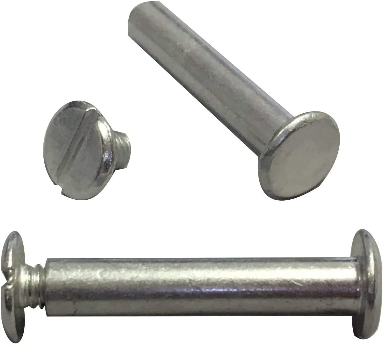 Silver Aluminum Screw Posts//Chicago Screws 100 Pack 3//4 Inch by Ring Binder Depot