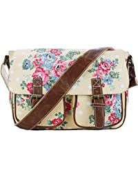 Miss Lulu Canvas Prints Satchel Messenger Shoulder Bag