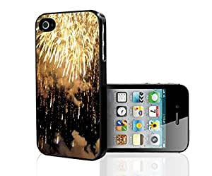 Gold Fireworks Hard Snap on Phone Case (iPhone 4/4s)