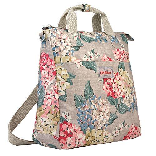 Birds Cath Kidston - Cath Kidston Matt Oilcloth Multi Strap Backpack Crossbody Bag Hydrangea Colour Oat 16SS