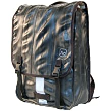 Alchemy Goods Madison Backpack, Made from Recycled Bike Tubes, Black