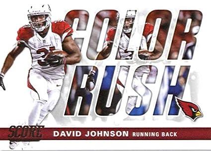 new product 56c48 292b0 Amazon.com: 2017 Score Color Rush #4 David Johnson Arizona ...