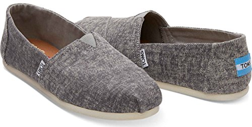 TOMS Womens Classic Casual Shoe Steel Grey Washed Denim CPOE7CdP