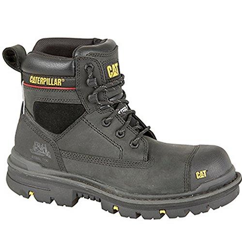 CATERPILLAR-Bruco da GRAVEL S315,24 cm (6) Industrial-Stivaletti di sicurezza Nero (Black Oily Leather)