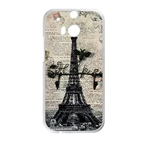 Big Ben on Burlap HTC One M8 Cell Phone Case White