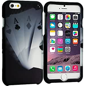 Accessory Planet(TM) Ace Cards 2D Hard Snap-On Design Rubberized Case Cover Accessory for Apple iPhone 6 (4.7)