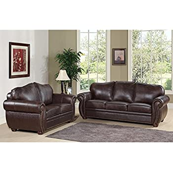 Amazon.Com: Metro Shop Abbyson Living Richfield Premium Top-Grain