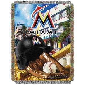 MLB Miami Marlins Home Field Advantage Woven Tapestry Throw, 48