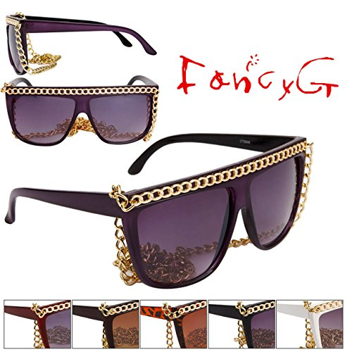 FancyG® Fashion Trend Lady Gaga Inspired Style Oversized Sunglasses 100% UV Protection Assorted Package of 12 ()