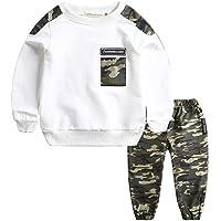 1-11 Años,SO-buts Niños Adolescentes Niños Bebés Carta De Otoño Invierno Chándal Tops Sudadera Pantalones De Camuflaje…