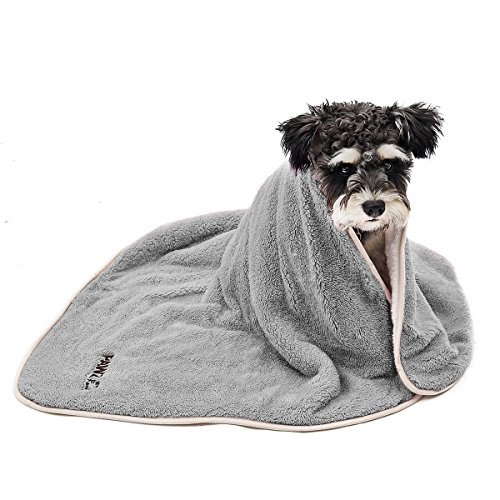 PAWZ Road Dog Blanket Luxury Wraps Fabric Soogan Exquisite Workmanship Ideal Blanket For Small and Medium Size Pets Grey