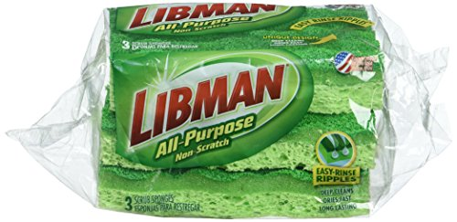 - Libman 01076 Scrub Sponge Medium Duty 3 Pack