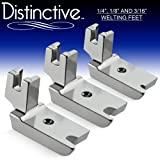Distinctive 1-4'', 1-8'' and 3-16'' Large Piping/Welting Sewing Foot Package - Fits All Low Shank Singer, Brother, Babylock, Janome, Kenmore, White, New Home, Simplicity, Elna and More!