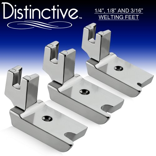 Distinctive 1-4'', 1-8'' and 3-16'' Large Piping/Welting Sewing Foot Package - Fits All Low Shank Singer, Brother, Babylock, Janome, Kenmore, White, New Home, Simplicity, Elna and More! by Distinctive